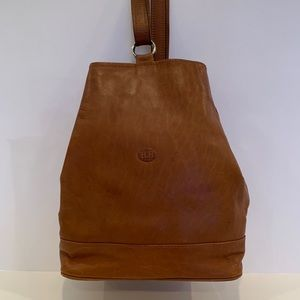 Convertible Backpack/Sling saddle brown leather